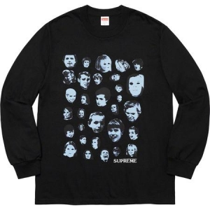Supreme Faces L/S Tee- Black