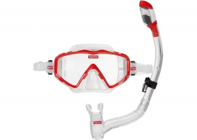 Supreme Cressi Snorkel Set- Red