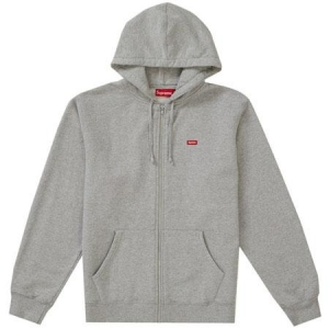 Supreme Small Box Zip Up Sweatshirt (SS19)- Heather Grey