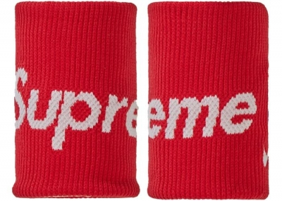 Supreme Nike NBA Wristbands (Pack Of 2)- Red