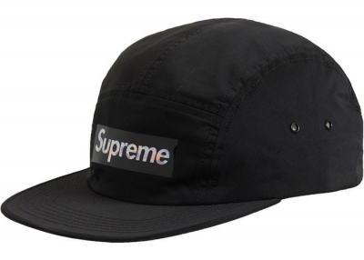 Supreme Holographic Logo Camp Cap- Black