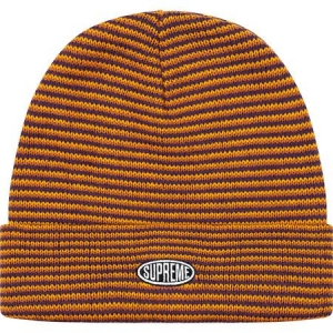 Supreme Zig Zag Stripe Beanie (FW19)- Orange