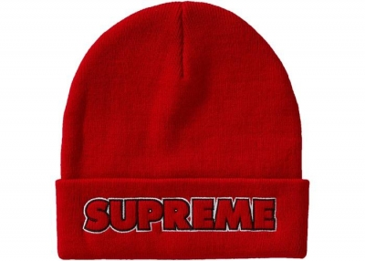 Supreme Outline Beanie (FW19)- Red