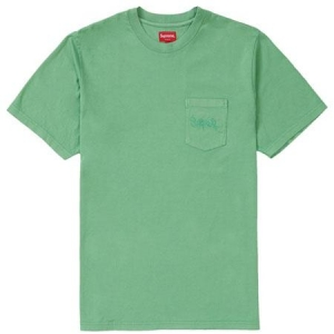 Supreme Overdyed Pocket Tee- Green