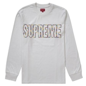 Supreme International L/S Tee- White