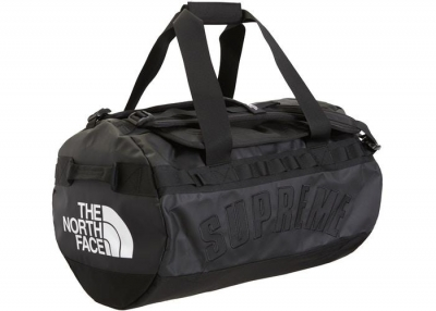 Supreme The North Face Arc Logo Small Base Camp Duffle Bag- Black