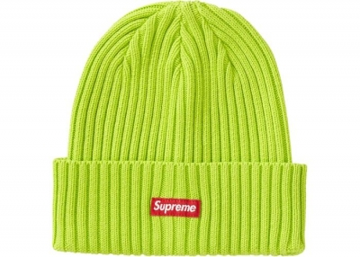Supreme Overdyed Beanie- Lime
