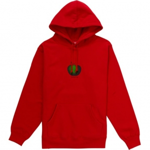 Supreme Apple Hooded Sweatshirt- Red