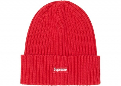Supreme Overdyed Beanie- Red