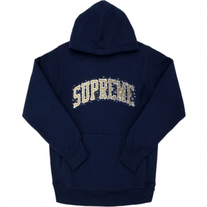 Supreme Water Arc Hooded Sweatshirt- Navy
