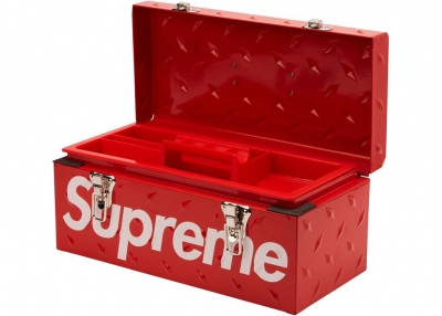 Supreme Diamond Plate Tool Box- Red