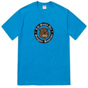 Supreme Life Sucks Die Tee- Bright Blue