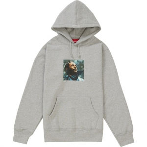 Supreme Marvin Gaye Hooded Sweatshirt- Heather Grey