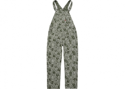 Supreme 100 Dollar Bill Overalls- Green