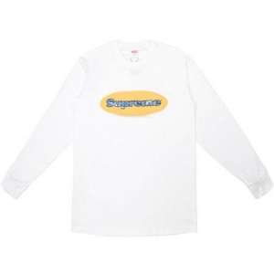Supreme Ripple LS Tee- White
