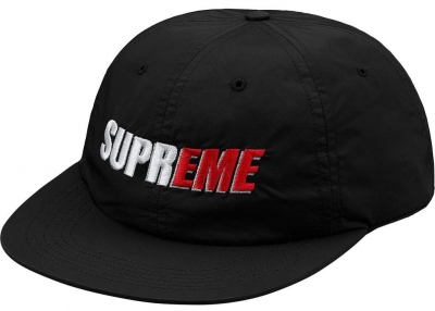 Supreme 2-Tone Nylon 6-Panel- Black