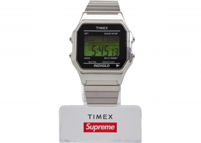 Supreme Timex Digital Watch- Silver