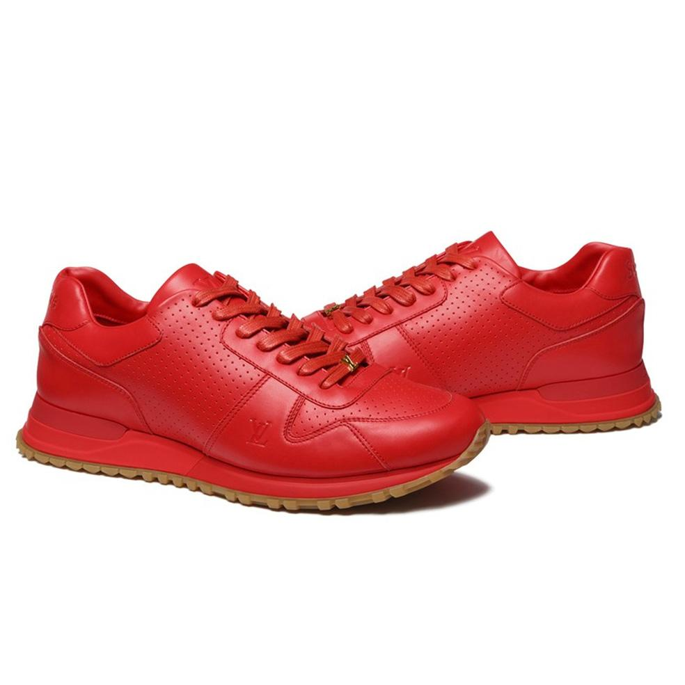 Louis Vuitton X Supreme Red Runaway Sneakers