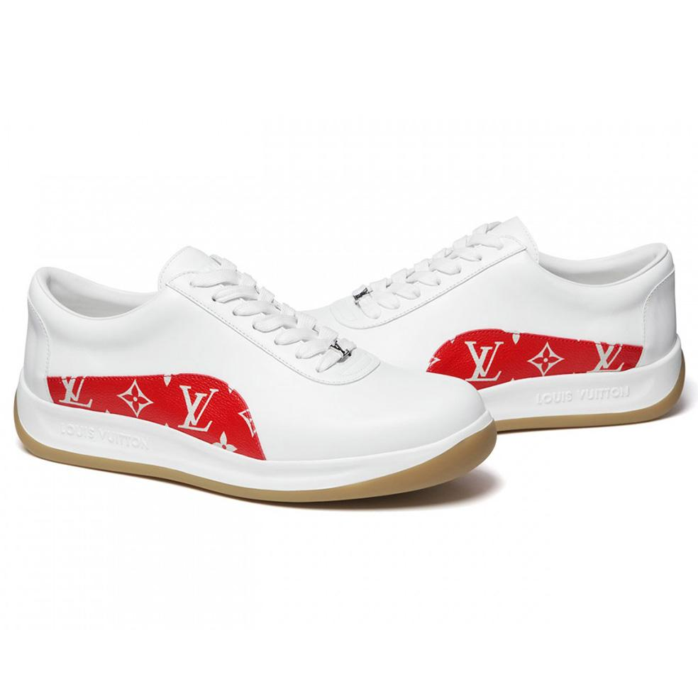 Louis Vuitton X Supreme White Sport Sneakers