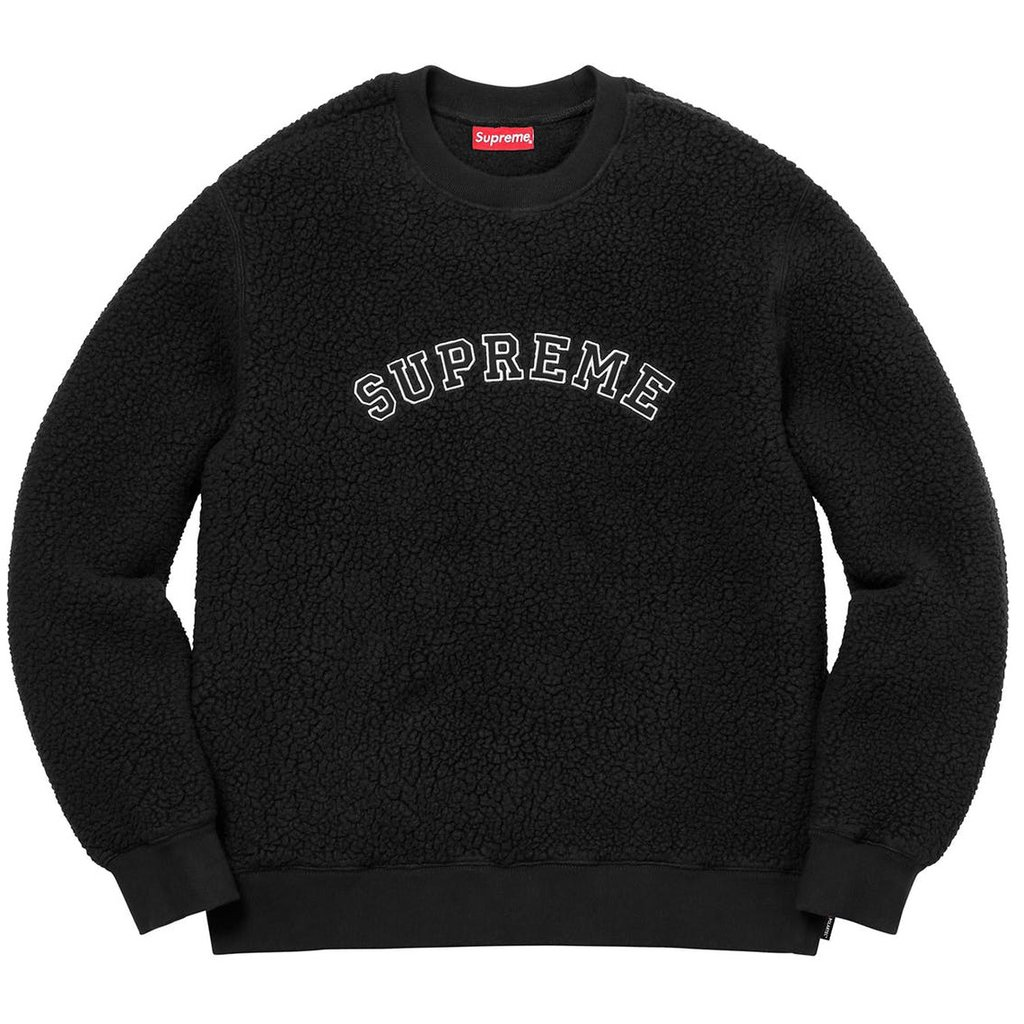 Polartec Deep Pile Crewneck - Black