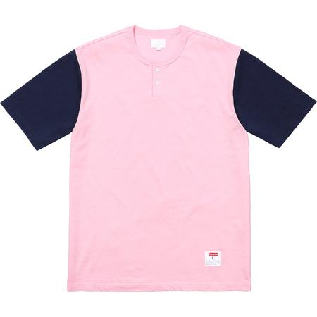 SUPREME 2-tone S/S Henley - Pink