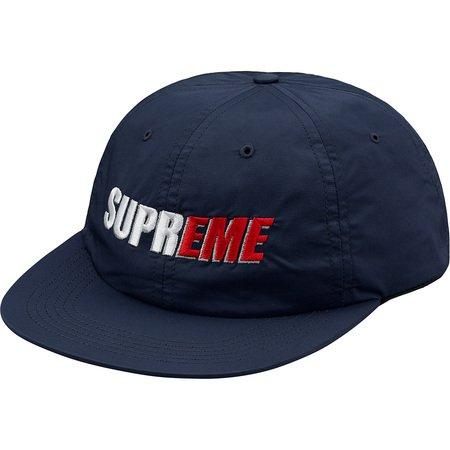 Supreme 2-Tone Nylon 6 Panel Hat -Navy