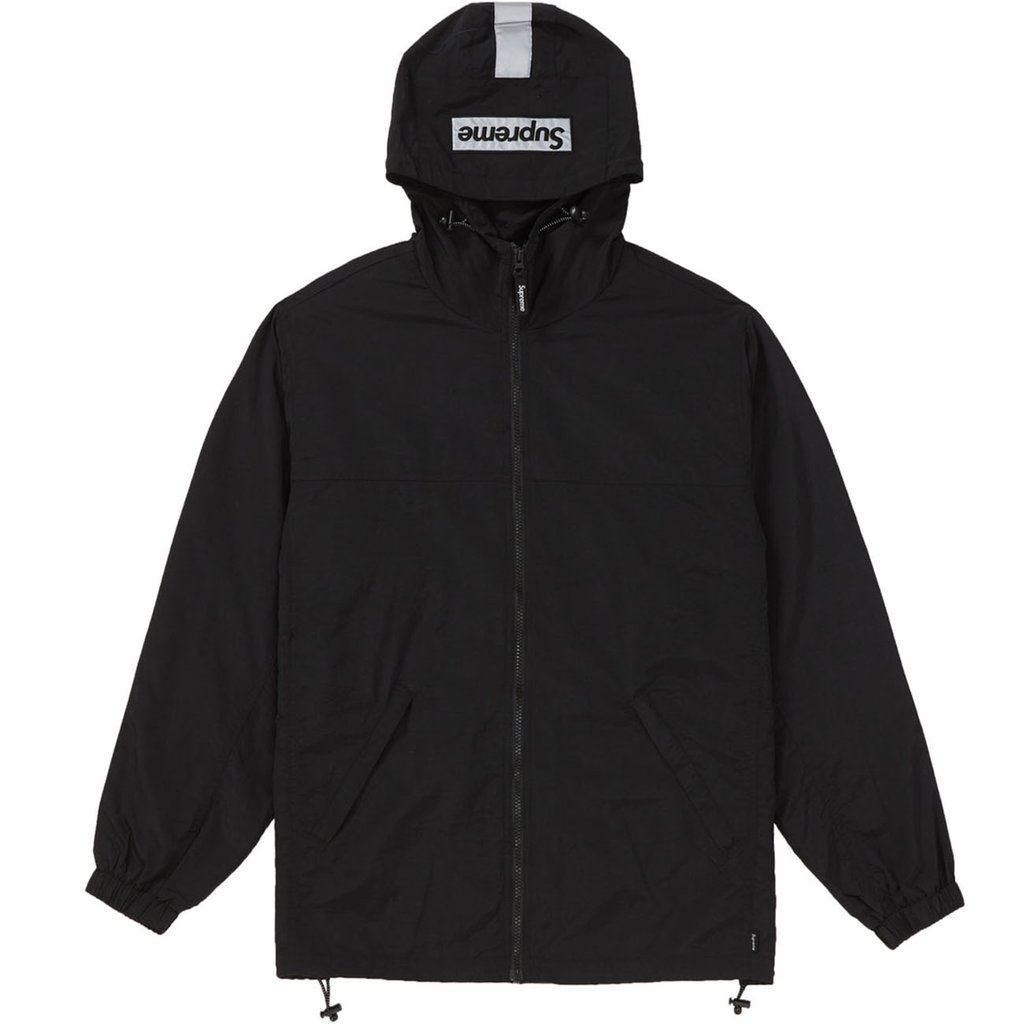 Supreme 2-Tone Zip Up Jacket- Black
