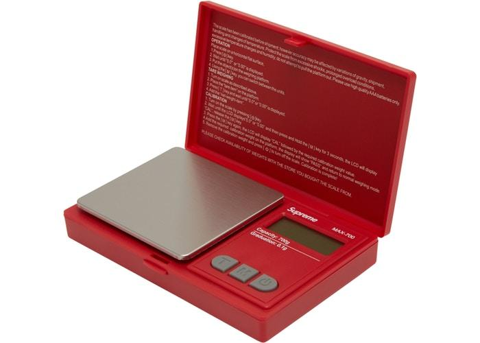 Supreme AWS MAX-700 Digital Scale- Red