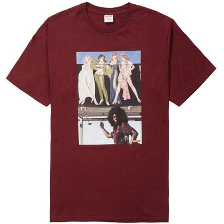 Supreme American Picture Tee- Burgundy
