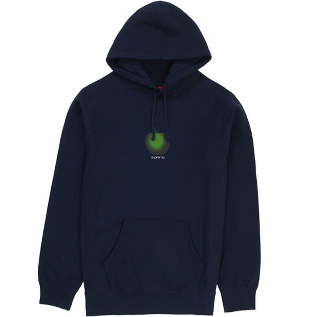 Supreme Apple Hooded Sweatshirt- Navy