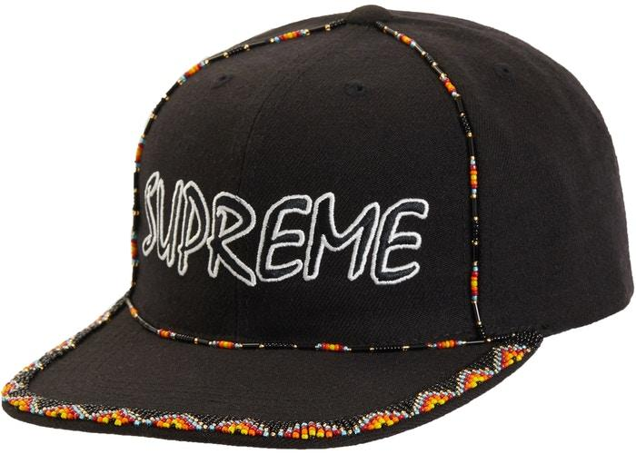 Supreme Beaded 6-Panel- Black