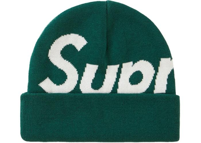 Supreme Big Logo Beanie (FW19)- Green