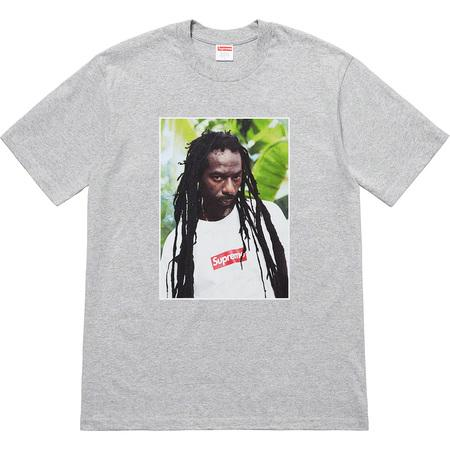 Supreme Buju Banton Tee- Heather Grey