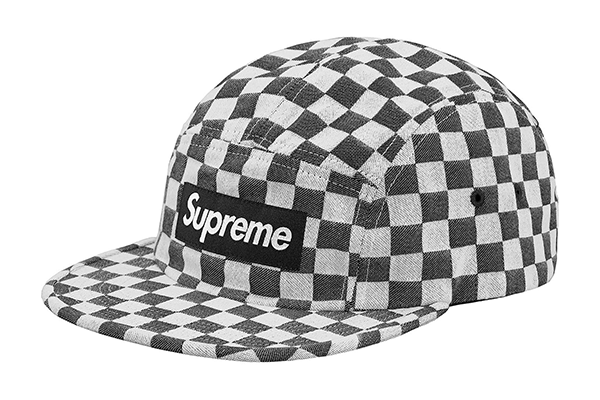 Supreme Checkerboard Camp Cap- Black