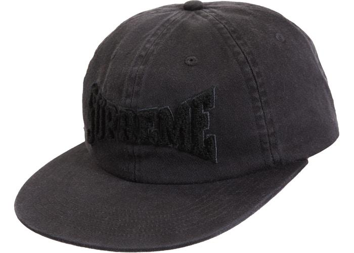 Supreme Chenille Logo 6-Panel- Black