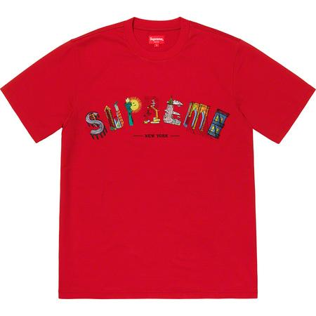 Supreme City Arc Tee- Red