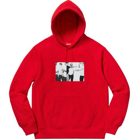Supreme Classic Ad Hoodie- Red