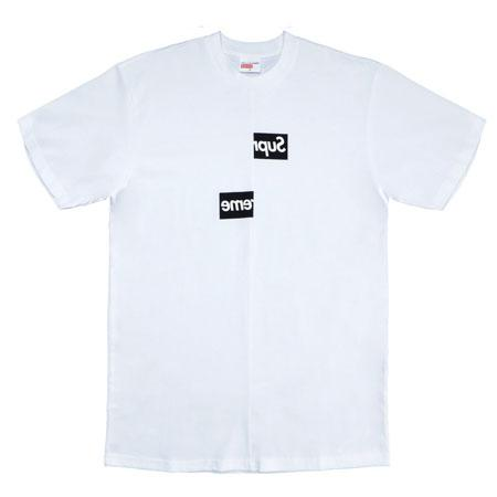 Supreme Comme des Garcons SHIRT Split Box Logo Tee- White