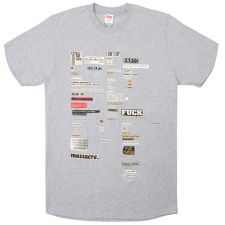 Supreme Cutouts Tee- Heather Grey
