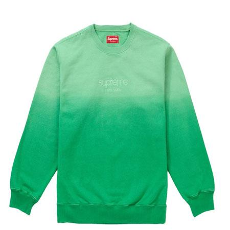 Supreme Dipped Crewneck- Green