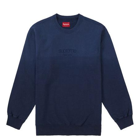 Supreme Dipped Crewneck- Navy