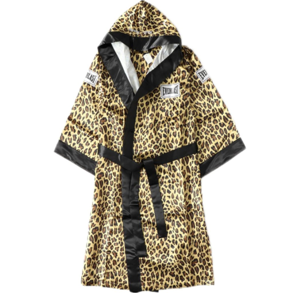 Supreme Everlast Satin Hooded Boxing Robe- Leopard