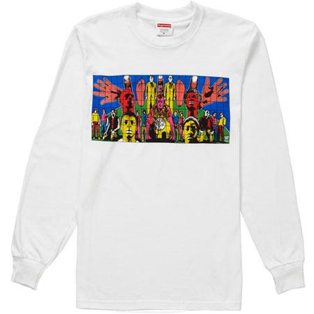 Supreme Gilbert & George DEATH AFTER LIFE L/S Tee- White