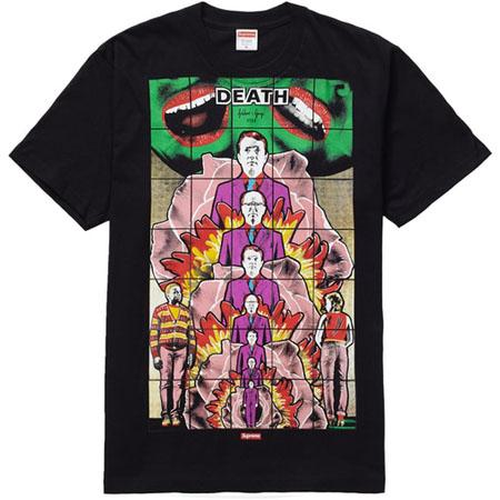 Supreme Gilbert & George DEATH Tee- Black