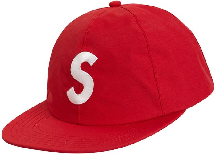 Supreme Gore Tex S logo 6 panel- Red