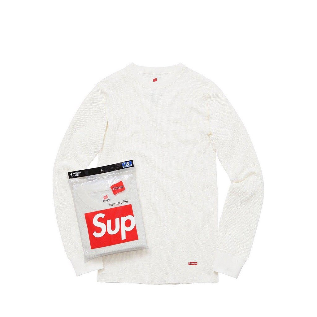 Supreme Hanes Oatmeal/Off-white Thermal