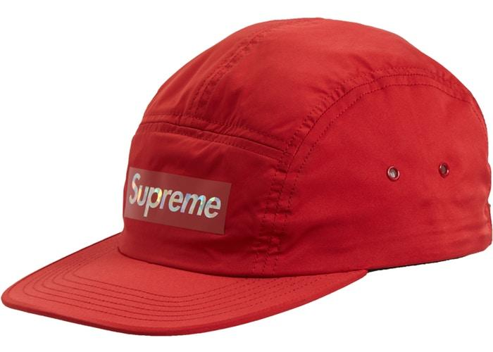 Supreme Holographic Logo Camp Cap- Red