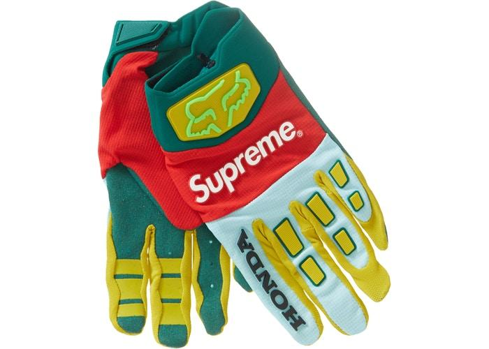 Supreme Honda Fox Racing Gloves- Moss
