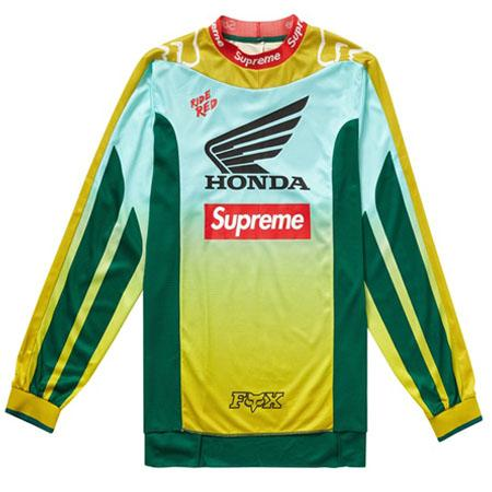 Supreme Honda Fox Racing Moto Jersey Top- Moss