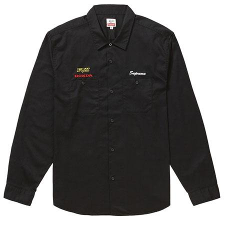 Supreme Honda Fox Racing Work Shirt- Black